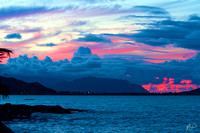 Kailua Bay - Red Sunset